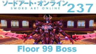 "Sword Art Online: Hollow Fragment - PS VITA Walkthrough 237 - Floor 99 Boss ""The Ruler Of Deities"""