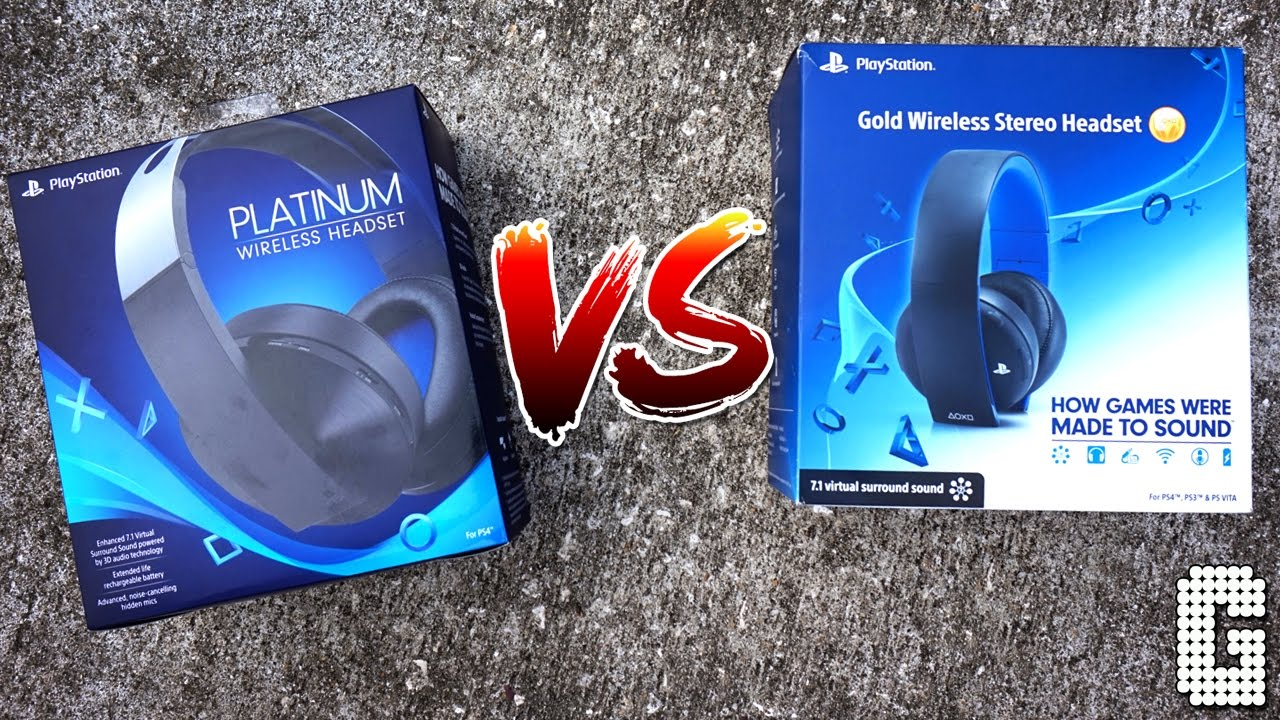 SHOWDOWN! : Sony Platinum Headset VS Sony Gold Headset