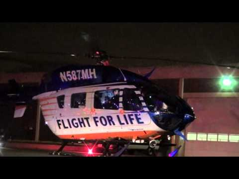 Flight for Life Airlift After Extrication/Technical Rescue Operation for Man Trapped in Machine