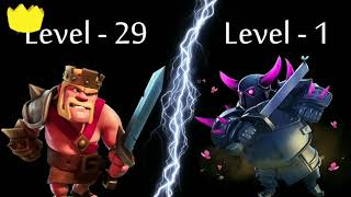 Max Level 8 PEKKA Vs.Max Level 60 Barbar Kral