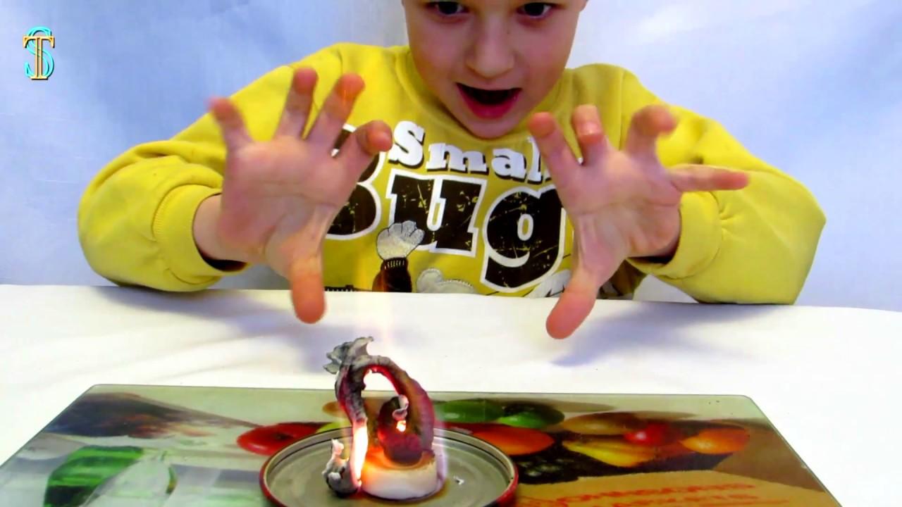 Огненные змеи. Домашние опыты для детей / Fiery snakes. Home Experiences for Children