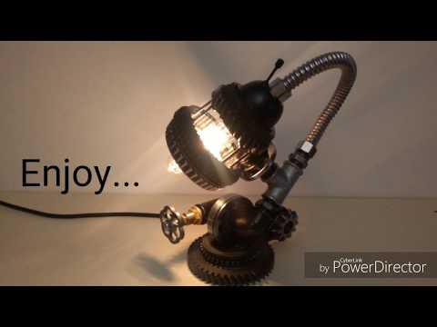 Homemade Steampunk Gear Lamp #4 - DIY