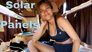 Installing Solar Panels On Our Camper Was The BEST Decision EVER (Tutorial) - Wandxr Bus