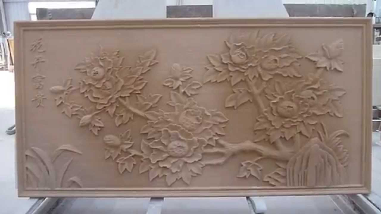 Natural sandstone 3d wall art cladding tiles - YouTube