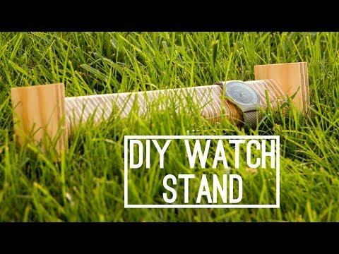 DIY   Wooden Watch Stand