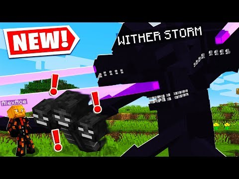SO I FOUND THE WITHER STORM BOSS In MINECRAFT..
