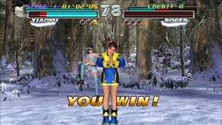Tekken Tag Tournament HD: Ling Xiaoyu/Jun Kazama Arcade Playthrough [Tekken Hybrid: PS3, 2011]