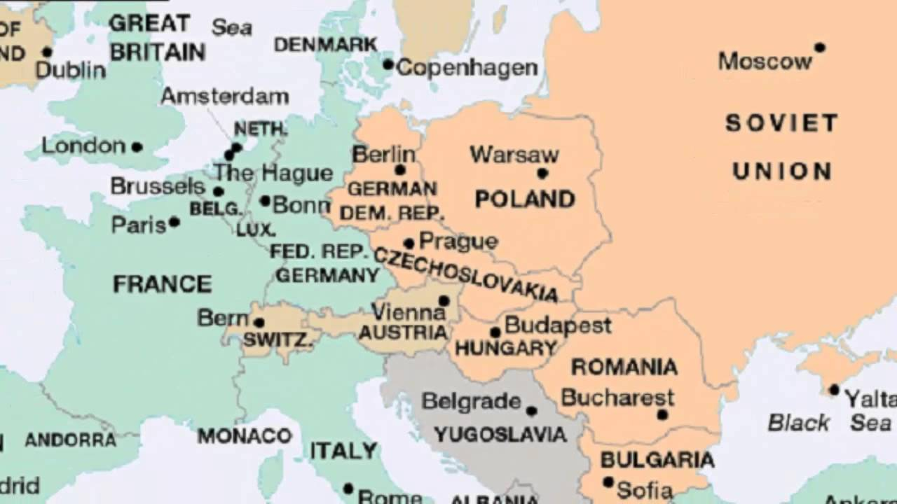 The iron curtain map - What Was The Iron Curtain