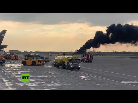Video:momento en que se incendia avion al aterrizar