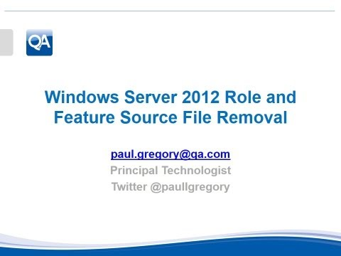 Windows Server 2012 Role & Feature Source File Removal