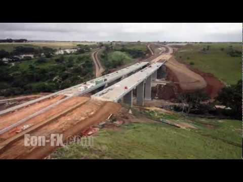Time-lapse Construction Anthonys Cutting Realignment Project