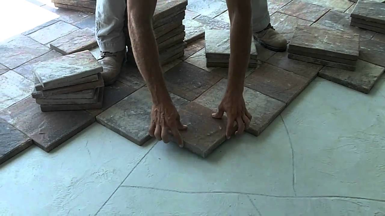 Tuscan Paving Stone.com   Paver Installation Over Concrete   YouTube