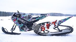 Suzuki 1000cc GSX-R Snow Bike 170HP!