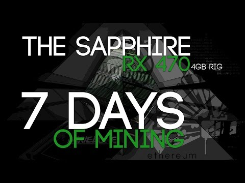 7 Days of Ethereum Mining With The 6 x RX 470 4GB Rig