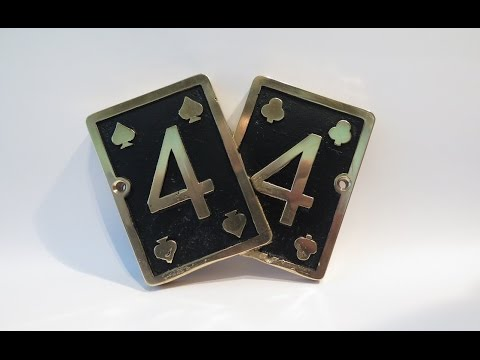 Casting a House Number Sign In Brass