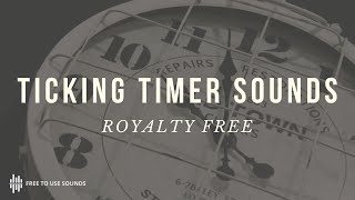 Royalty Free Suspenseful Clock Ticking Sound Effects! The Best 60 Seconds With Bing & Explosion!