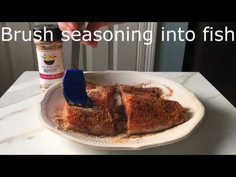 How to Cook Salmon: A Delicious Baked Salmon Recipe made with Jamaican Jerk Seasoning.