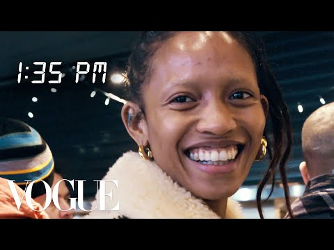 Model Adesuwa Aighewi's Full-Day Routine for an Alexander Wang Show | Diary of a Model | Vogue