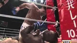 DREAM 15 Melvin Manhoef vs  Tatsuya Mizuno part 2 thumbnail