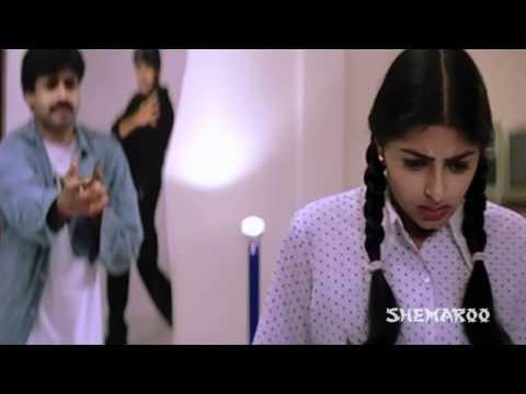 Kushi Telugu Movie   Clash Between Pawan Kalyan & Bhoomika   Pawan Kalyan   Bhoomika   Mani Sharma