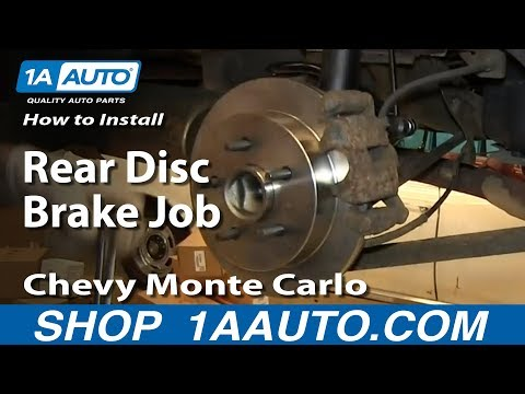 How To install Do a Rear Disc Brake Job 2000-07 Chevy Monte Carlo - 1A Auto Parts  - cTQVId6V5Fw -