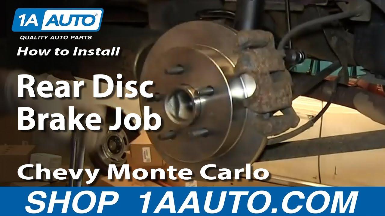 Brake Line Repair >> How To install Do a Rear Disc Brake Job 2000-07 Chevy Monte Carlo - YouTube