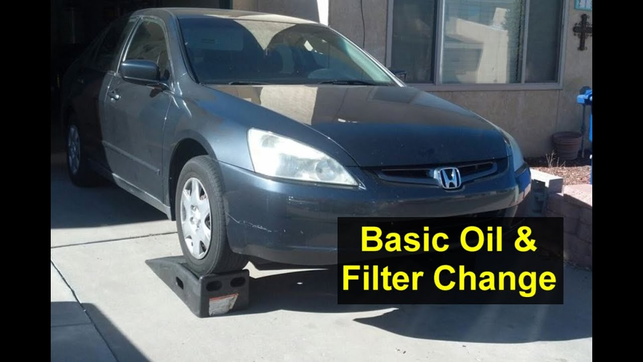 Basic Oil Change And Filter Honda Accord I4 4 Cylinder Votd