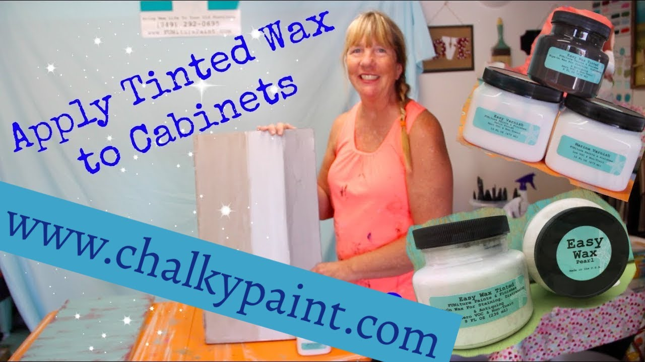 How To Paint Cabinets Without Sanding And Apply Tinted Wax Using Chalky Paints