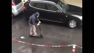 airbike ali5 v2 electric scooter joy ride in rainy day