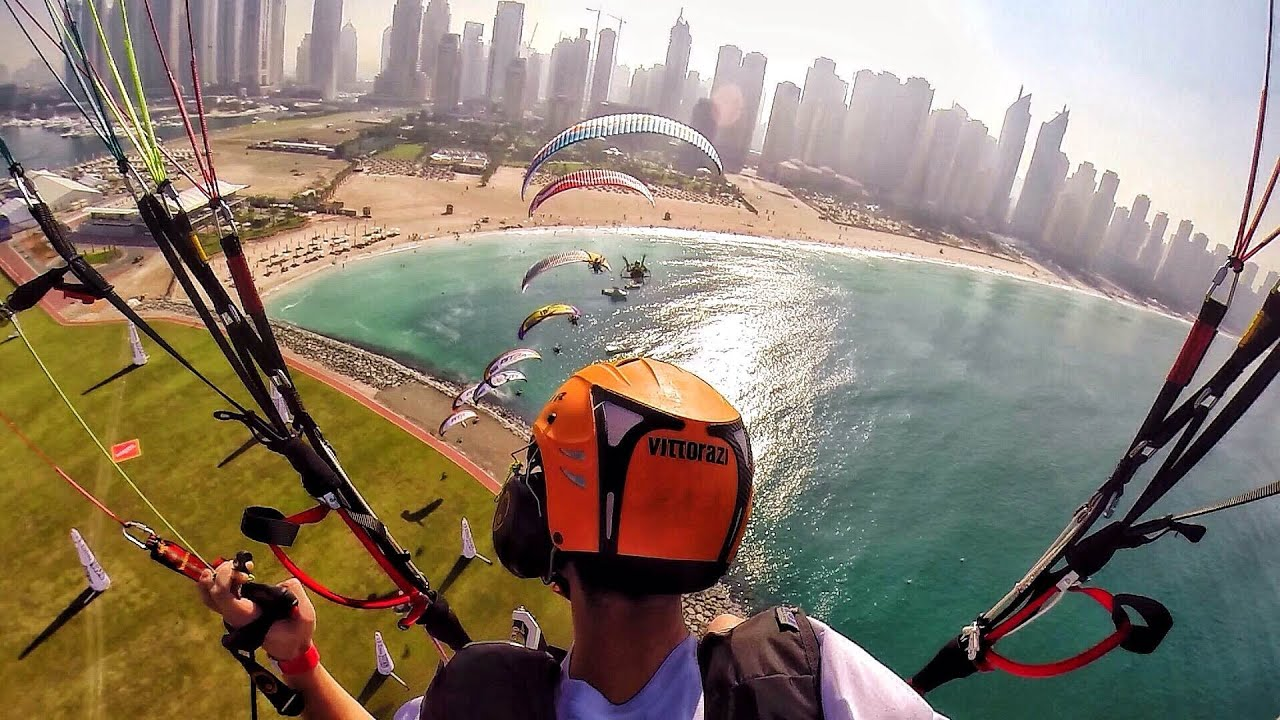 Sky Racers! - Dubai! - Flying in 4K - Paramotor Parabatix | DEVINSUPERTRAMP