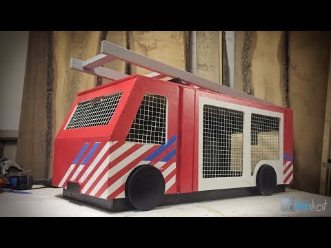 Konijnenhok Brandweerwagen