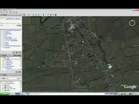 Missile Over Ireland on Google Earth !?!