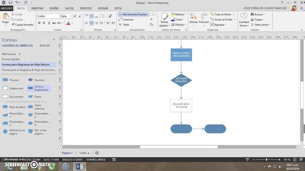 Visio diagrama de flujo bsico youtube visio diagrama de flujo bsico ccuart Choice Image