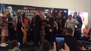 GENNADY GOLOVKIN TRADES FINALS WORDS WITH VANES MARTIROSYAN ONE DAY AWAY FROM FIGHT NIGHT