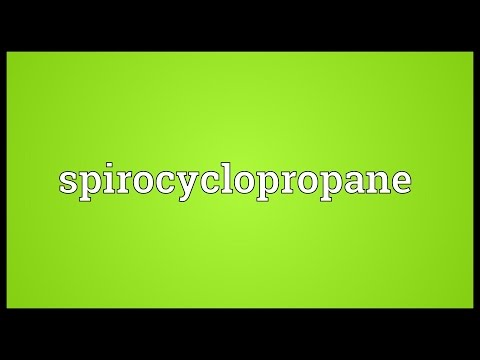 Spirocyclopropane Meaning