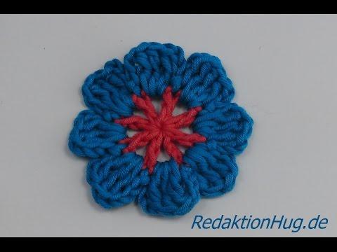 Häkeln - Blume Häkelblume einfach - Veronika Hug - YouTube
