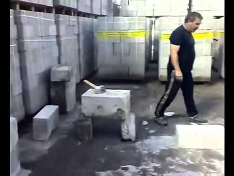 Полистеролбетоновые блоки видео испытания на прочность фото 174-770