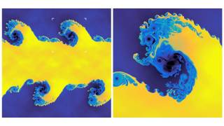 Kelvin-Helmholtz instability - Discontinuous Galerkin hydrodynamics