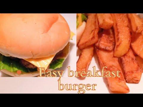 hamburger-déjeuner--recette-simple