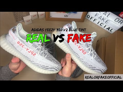 ADIDAS YEEZY 350 BOOST V2 BLUE TINT COMPARISON REAL VS FAKE