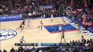 Boban Marjanovic 18 pts vs 76ers - San Antonio Spurs vs. Philadelphia 76ers - NBA - 07/12/2015