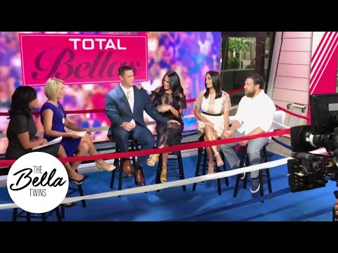 Exclusive backstage access with The Bella Twins, John Cena and Daniel Bryan at the Today Show