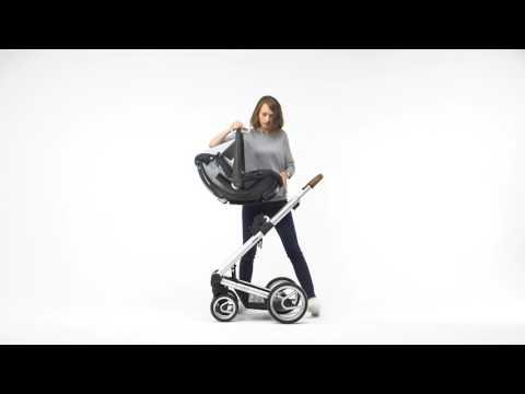 Mutsy Промо пакет Шаси със светлокафява дръжка + Кош за новородено + Седалка и сенник i2 Pure Fog #cTS1WRJsBTw