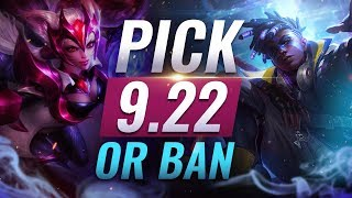 OP Pick or Ban: BEST BUILDS For EVERY Role - League of Legends Patch 9.22