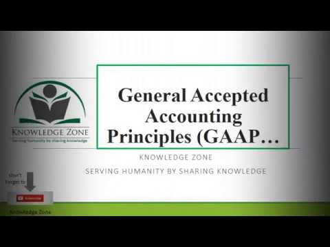01 GAAP General Accepted Accounting Principles