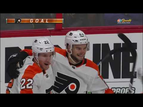 Scott Laughton Goal - Philadelphia Flyers vs Ottawa Senators (10/10/18)
