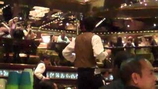 "BSB Cruise 2010 - Nick & AJ ""get low"" with the wait staff"