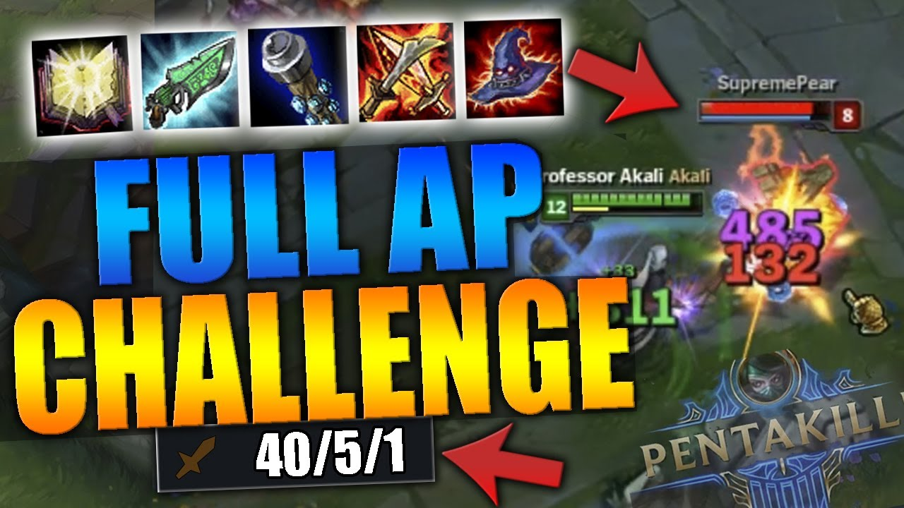 2500 DAMAGE FULL AP ONE-SHOT AKALI BUILD! WHAT IS THIS DAMAGE!?! SEASON 7  AKALI - League of Legends