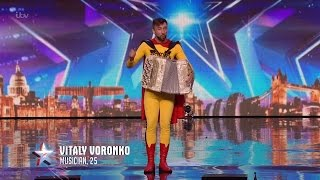 Britain's Got Talent 2016 S10E01 Vitaly Voronko The Accordian Maestro Full Audition