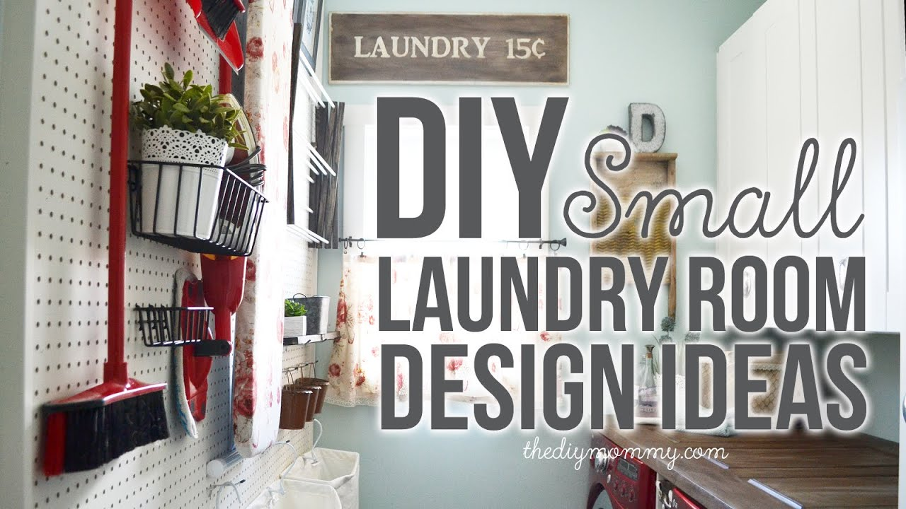 diy small laundry room decor organization ideas youtube - Laundry Room Decor